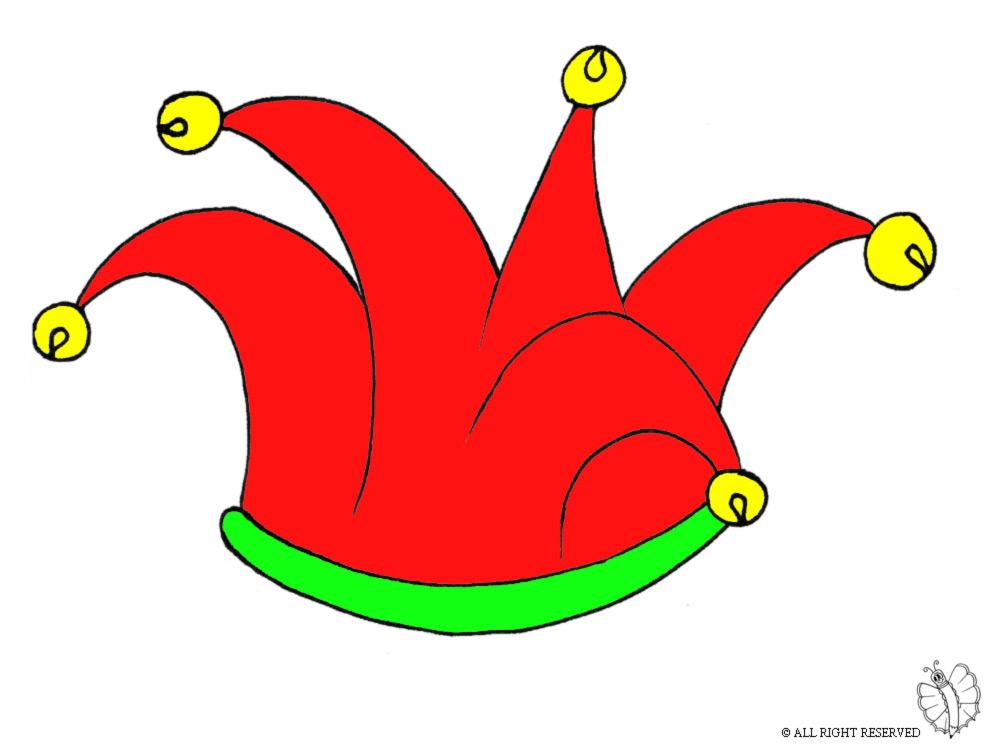 Stampa disegno di cappello giullare con campanellini a colori for Disegni di scantinati di sciopero
