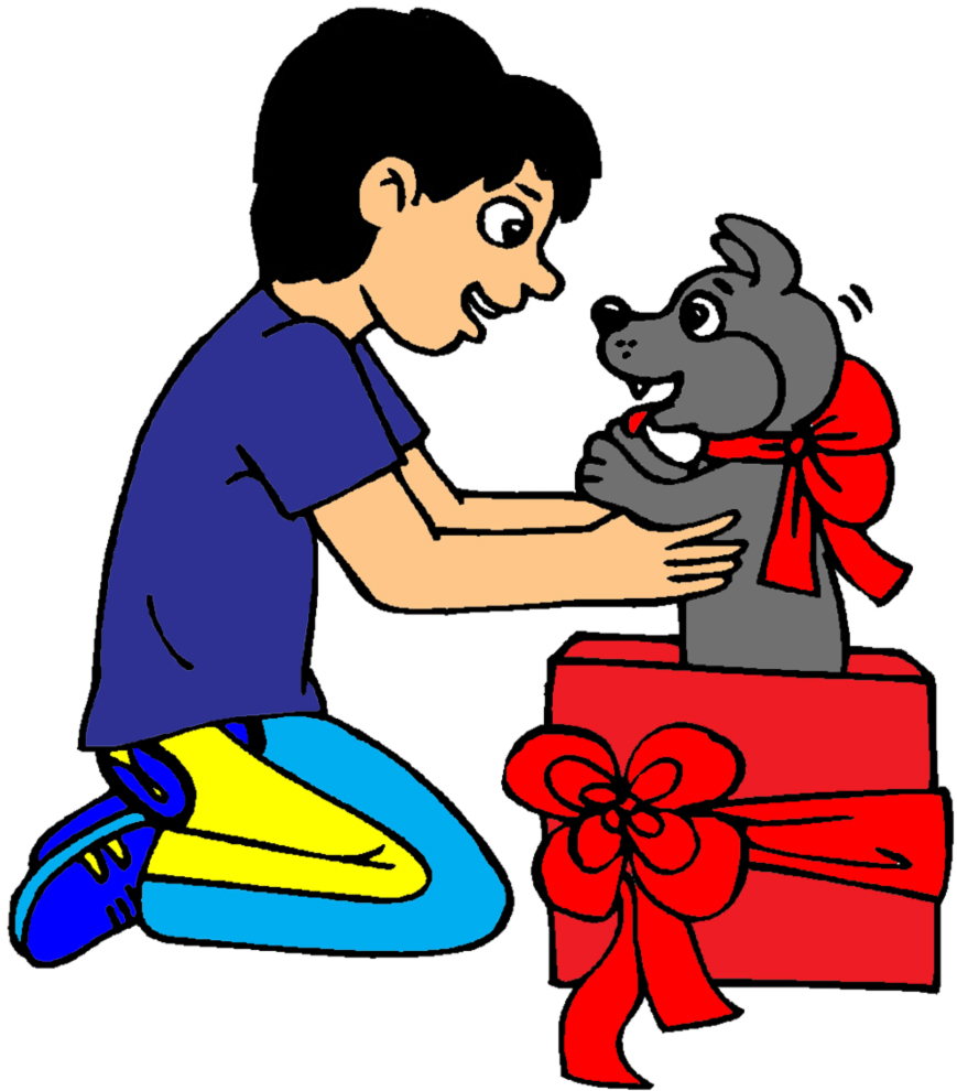 disegno di Un Cucciolo per Regalo a colori