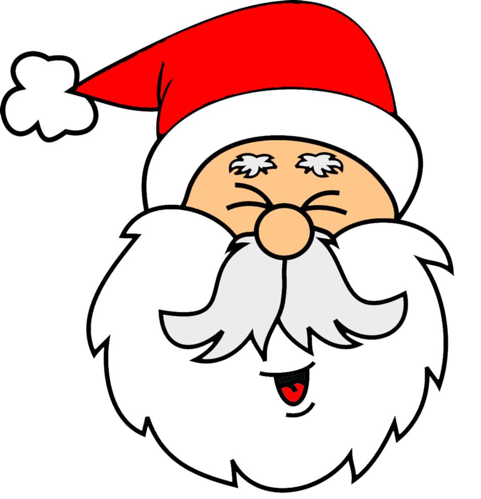 disegno di Viso di Babbo Natale a colori