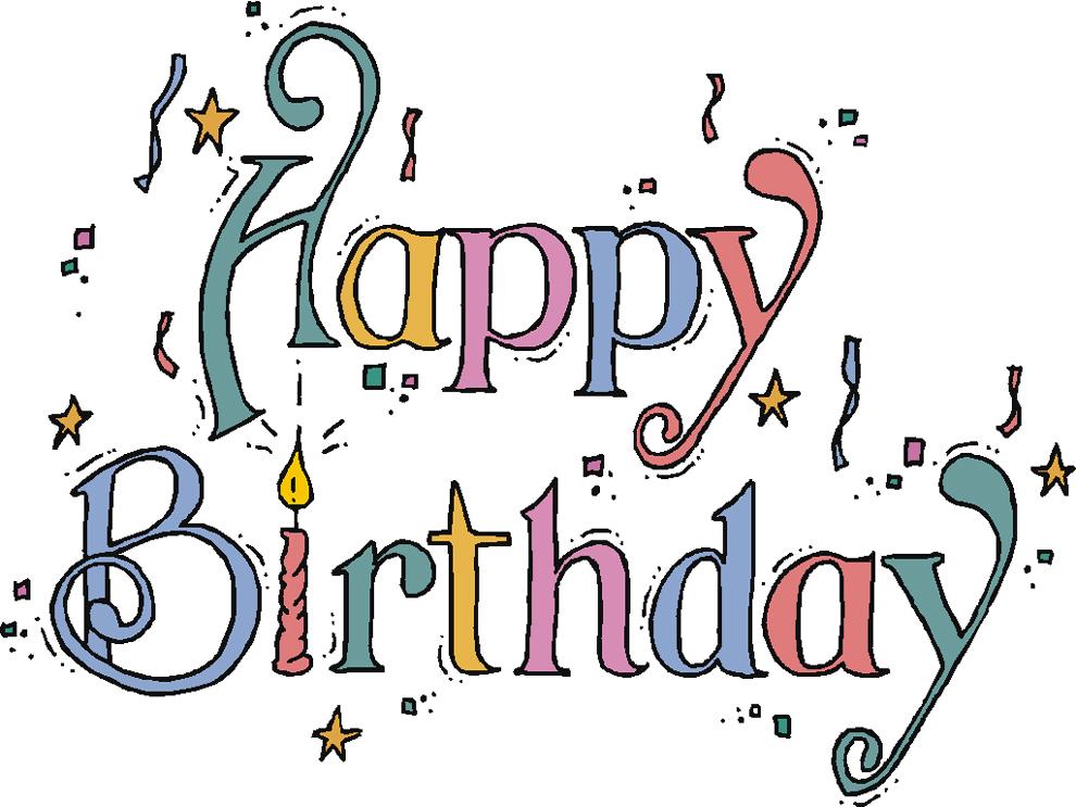 disegno di Happy Birthday a colori