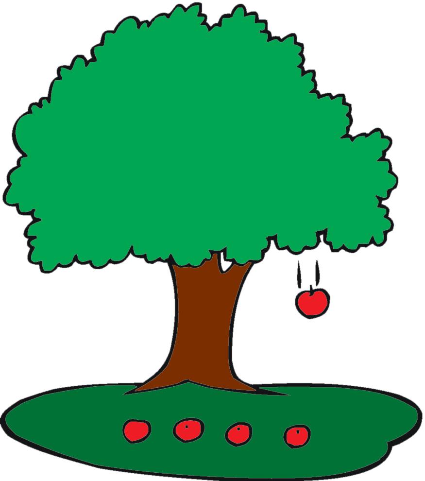 Stampa disegno di albero di mele a colori for Foto di alberi da colorare