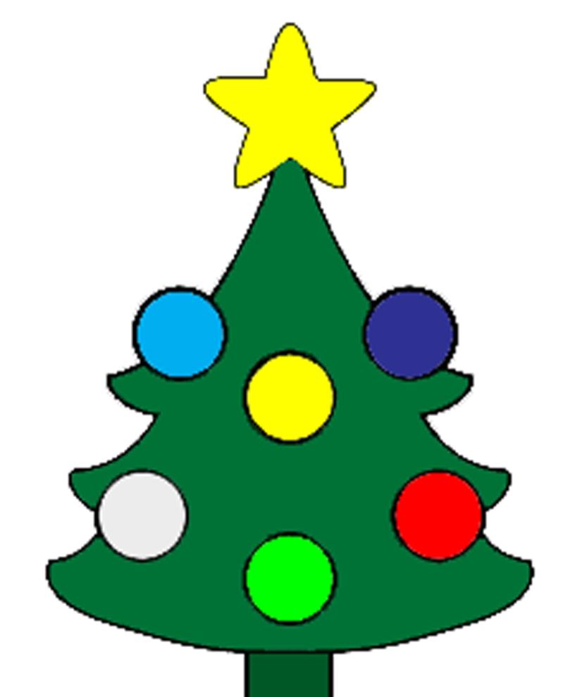Disegno di albero di natale a colori