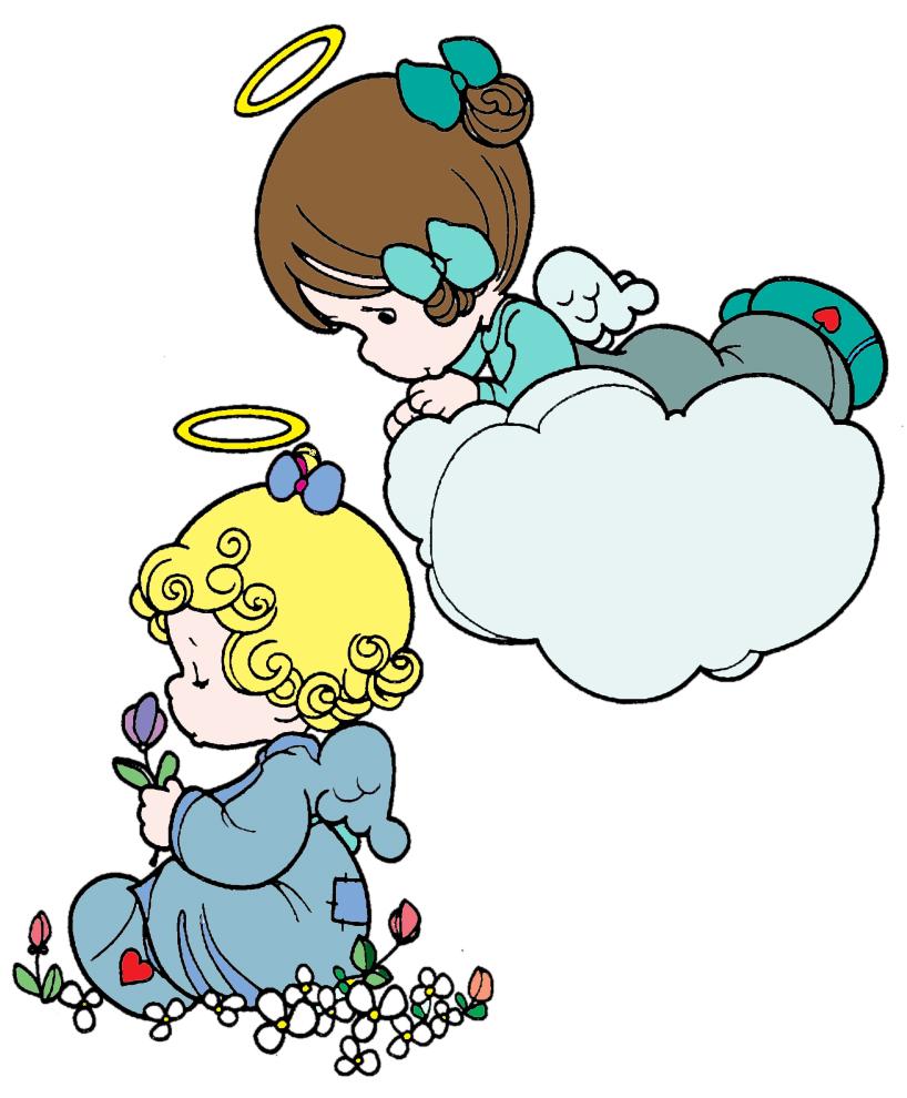 Stampa disegno di angioletti a colori for Disegni angeli da colorare gratis