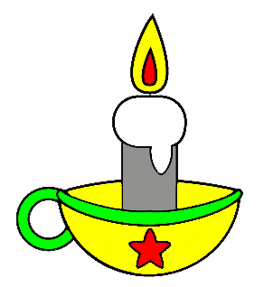 Stampa disegno di candela di natale a colori for Comodini per bambini online