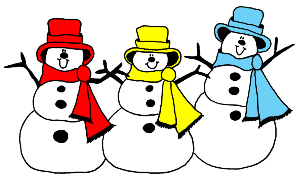 disegno di Pupazzi di Neve a colori