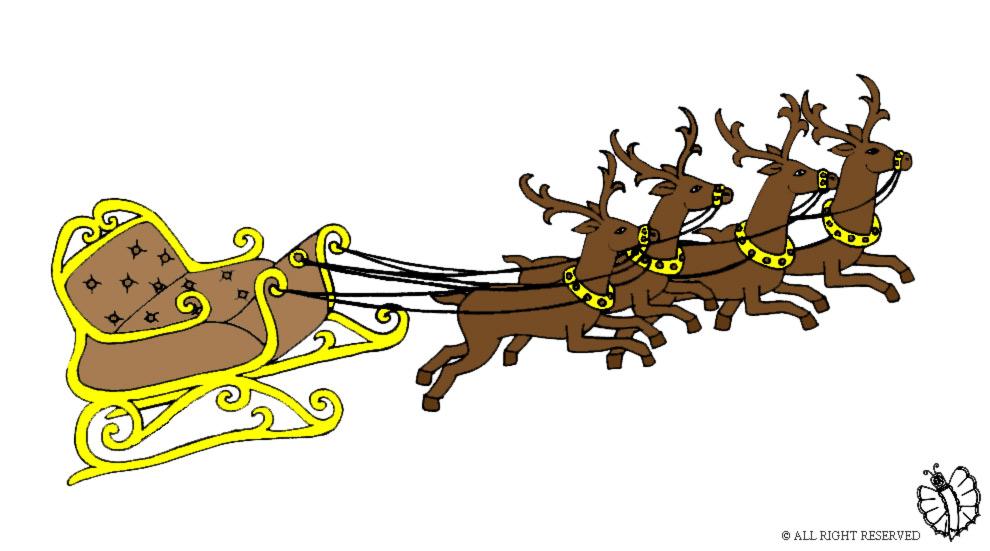 Immagini Slitta Di Babbo Natale.Stampa Disegno Di Slitta Di Babbo Natale A Colori