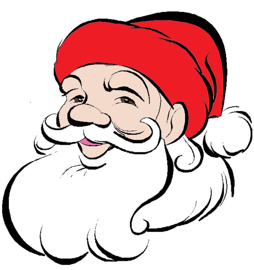 Immagini Viso Babbo Natale.Stampa Disegno Di Viso Di Babbo Natale A Colori
