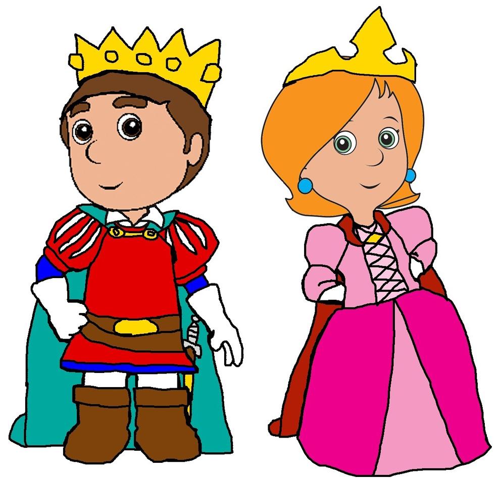 il principe e la principessa a colori