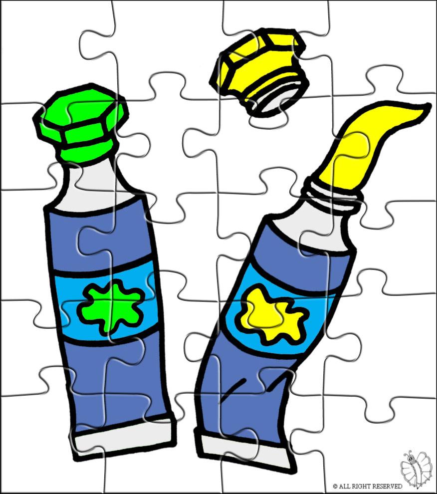 disegno di Puzzle di Tempere a colori