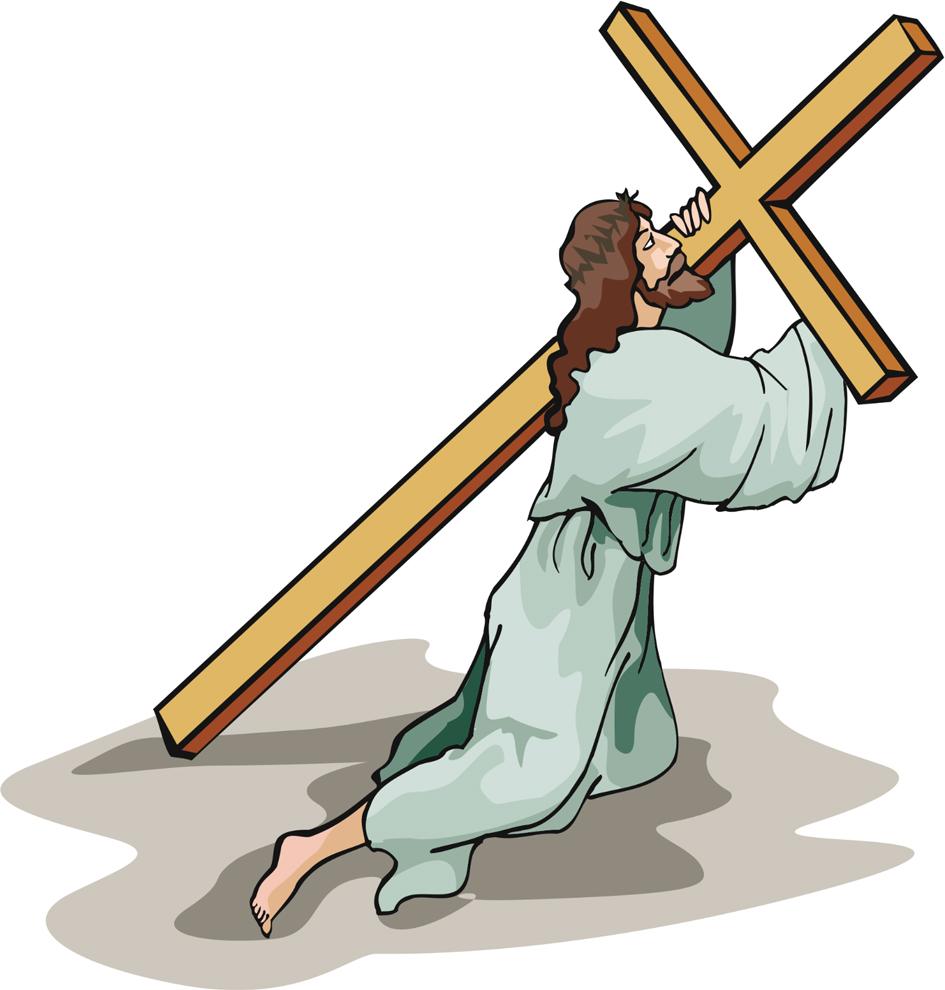 disegno di Gesù e la Croce a colori