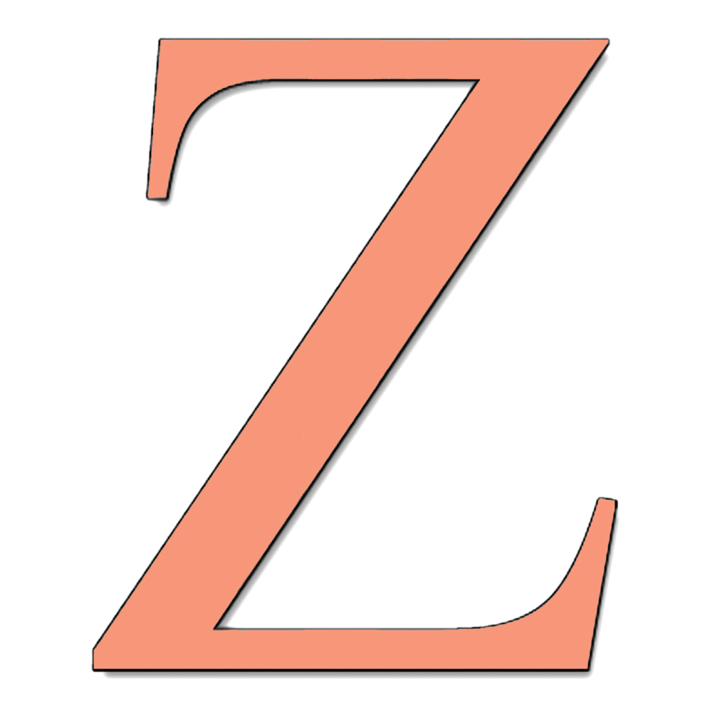 disegno di Lettera Z a colori