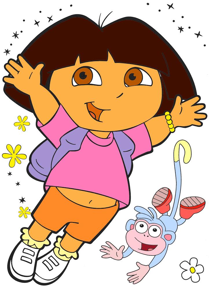 disegno di Dora a colori