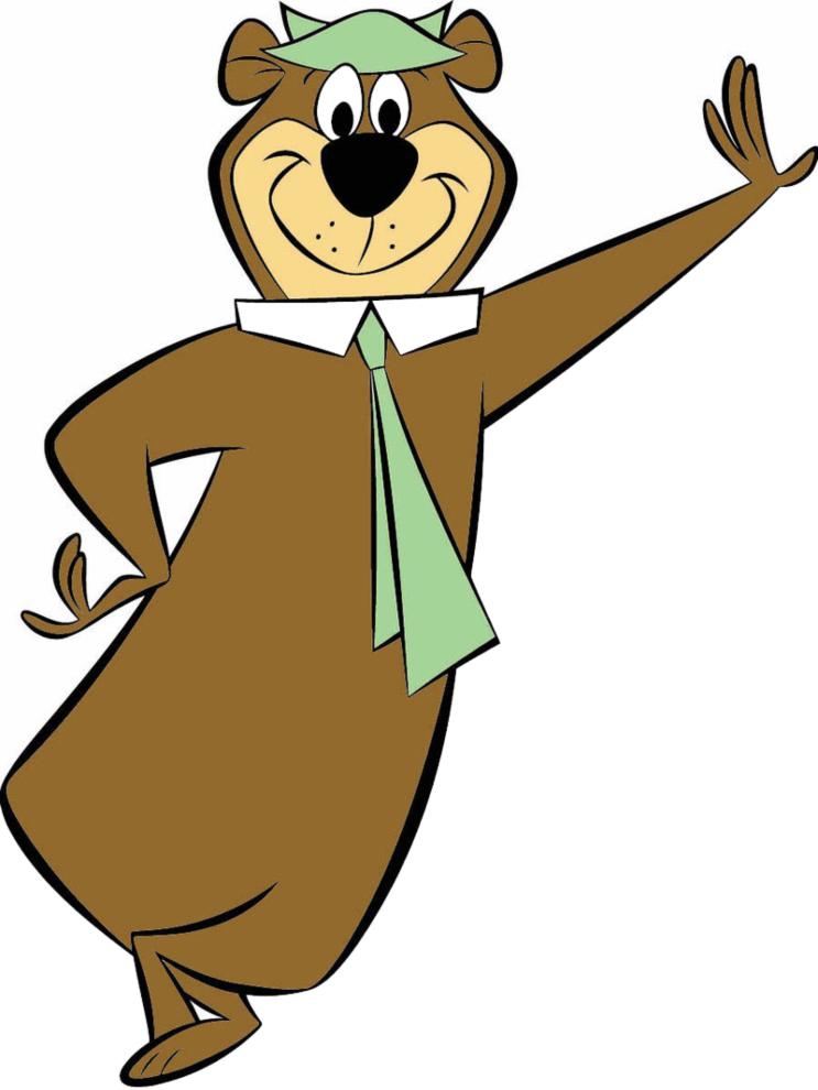 Stampa disegno di orso yoghi a colori for Disegno orso per bambini
