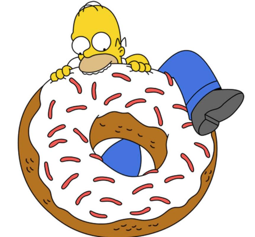 disegno di Homer e la Ciambella a colori