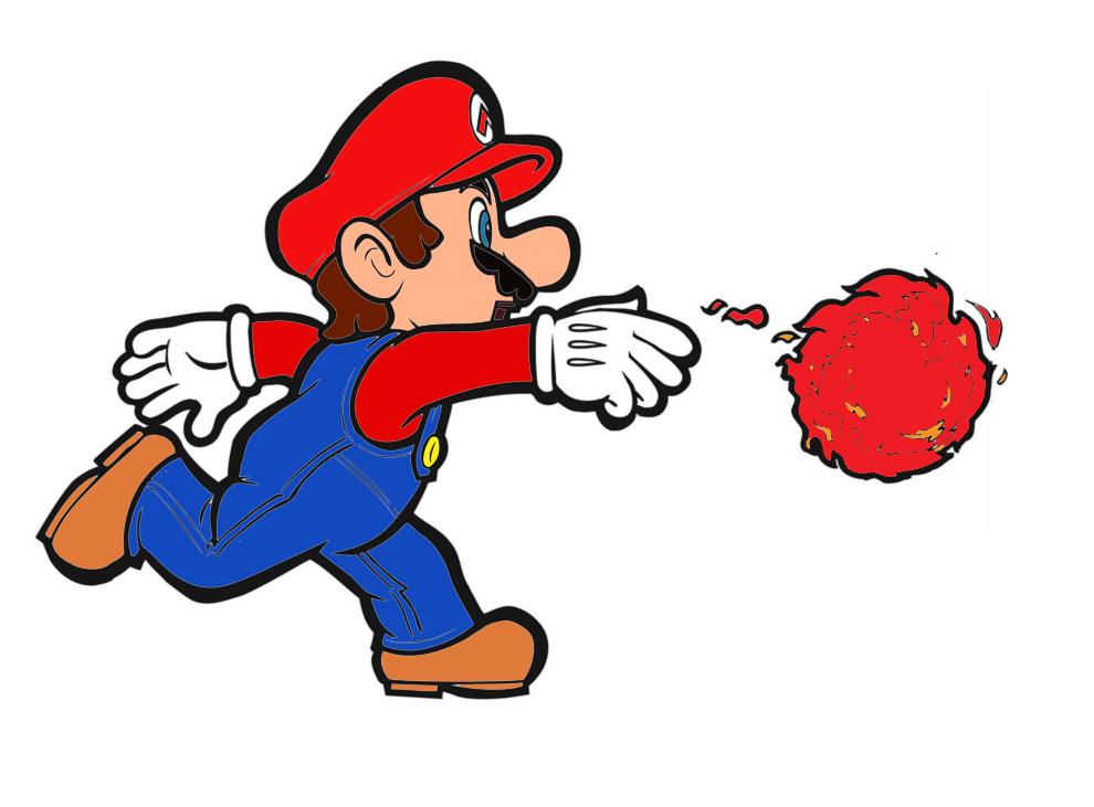 Stampa disegno di mario bros palla di fuoco a colori for Disegni da colorare super mario bros