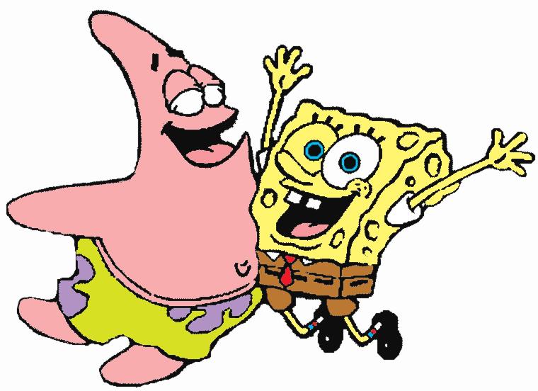 Stampa disegno di patrick e spongebob a colori - Pagina a colori spongebob ...