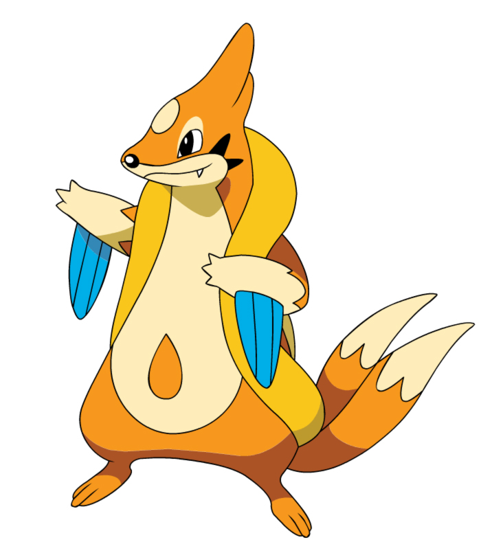 Stampa disegno di pokemon floatzel a colori for Pokemon da stampare e colorare
