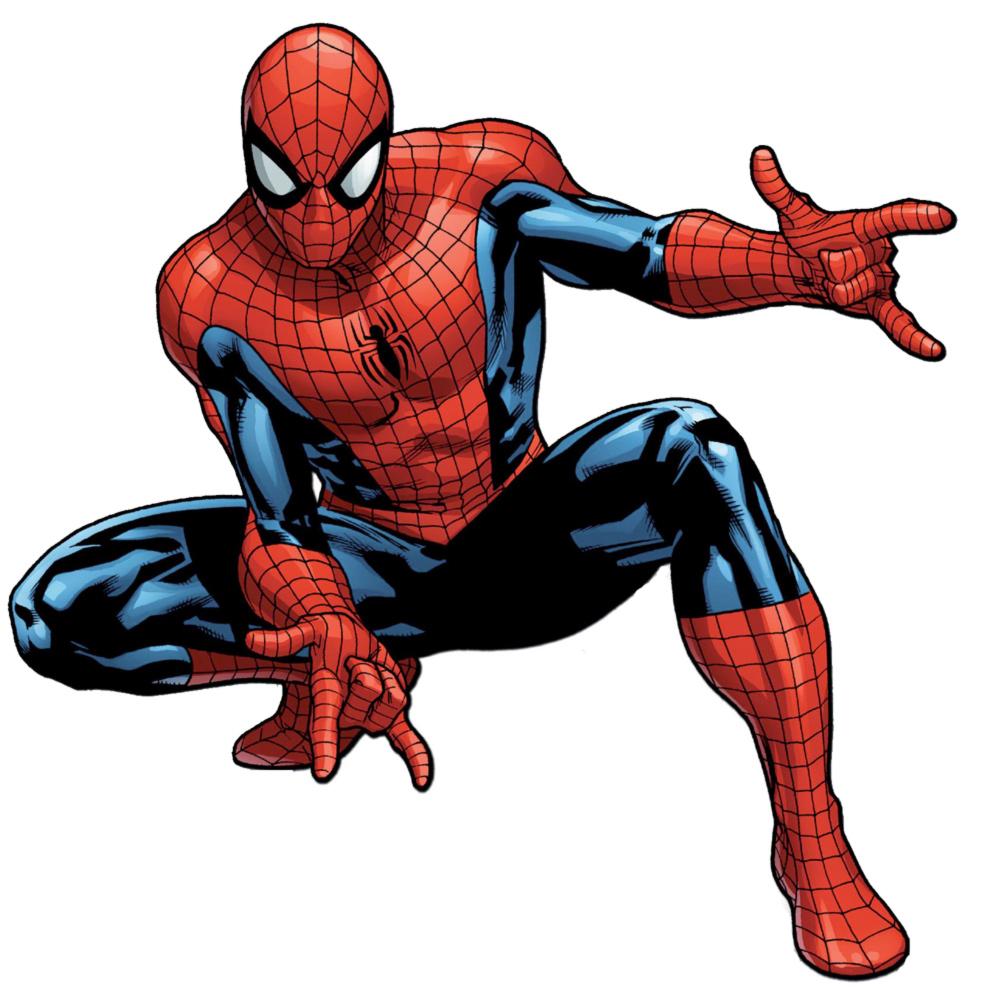 Stampa disegno di l uomo ragno a colori