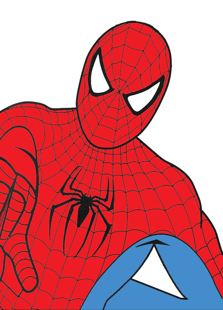 Stampa disegno di spiderman a colori for Spiderman da colorare on line