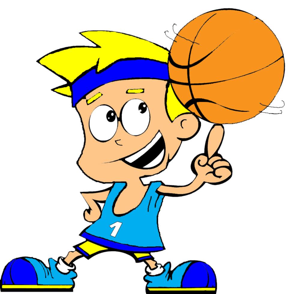 Stampa disegno di basket a colori