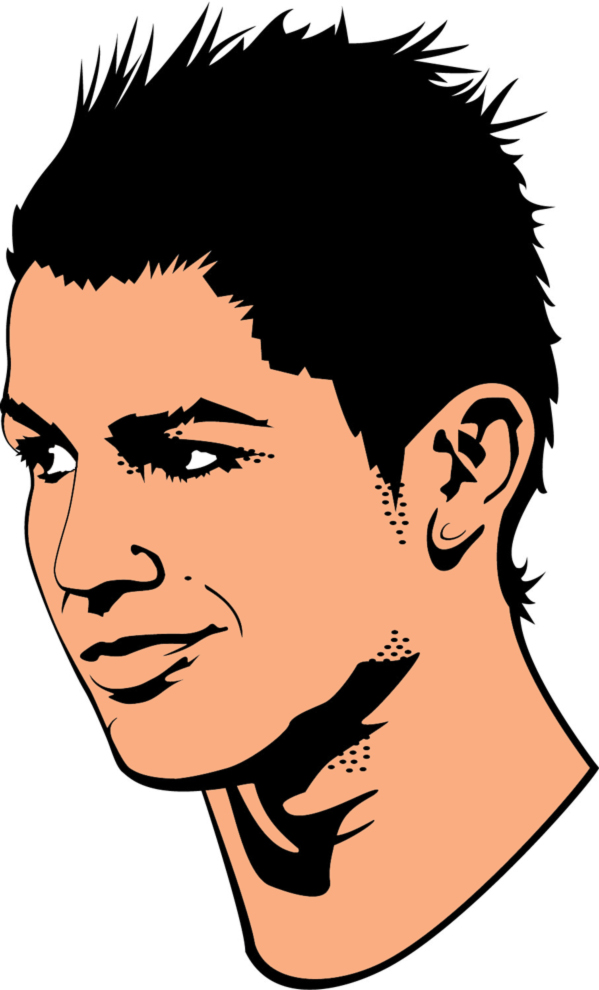 stampa disegno di cristiano ronaldo a colori