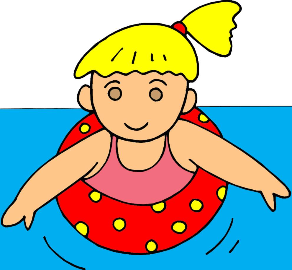 Stampa disegno di bambina con salvagente a colori - Cartoni animati mare immagini ...