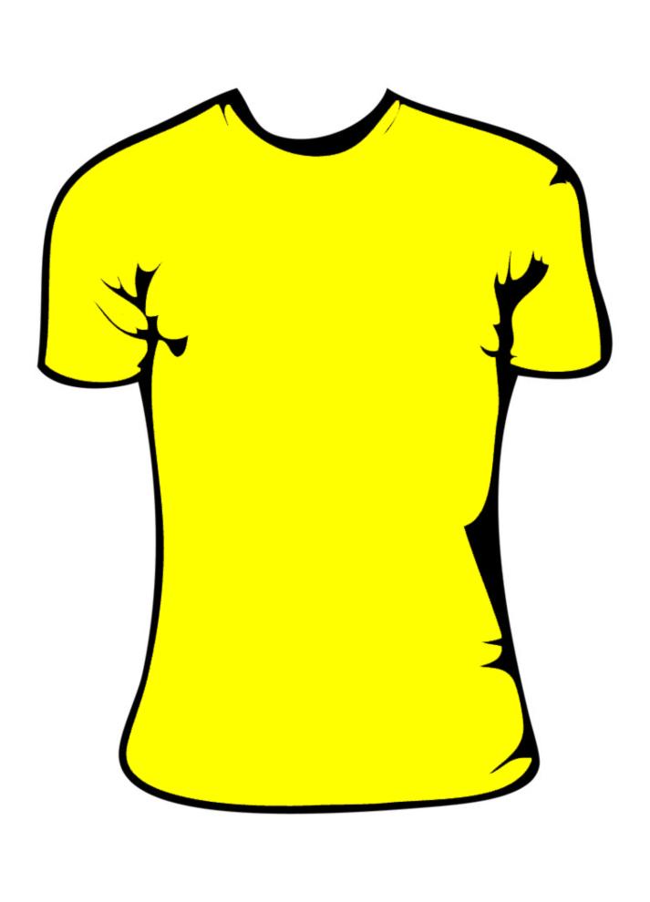 disegno di Maglietta Gialla Bambina a colori