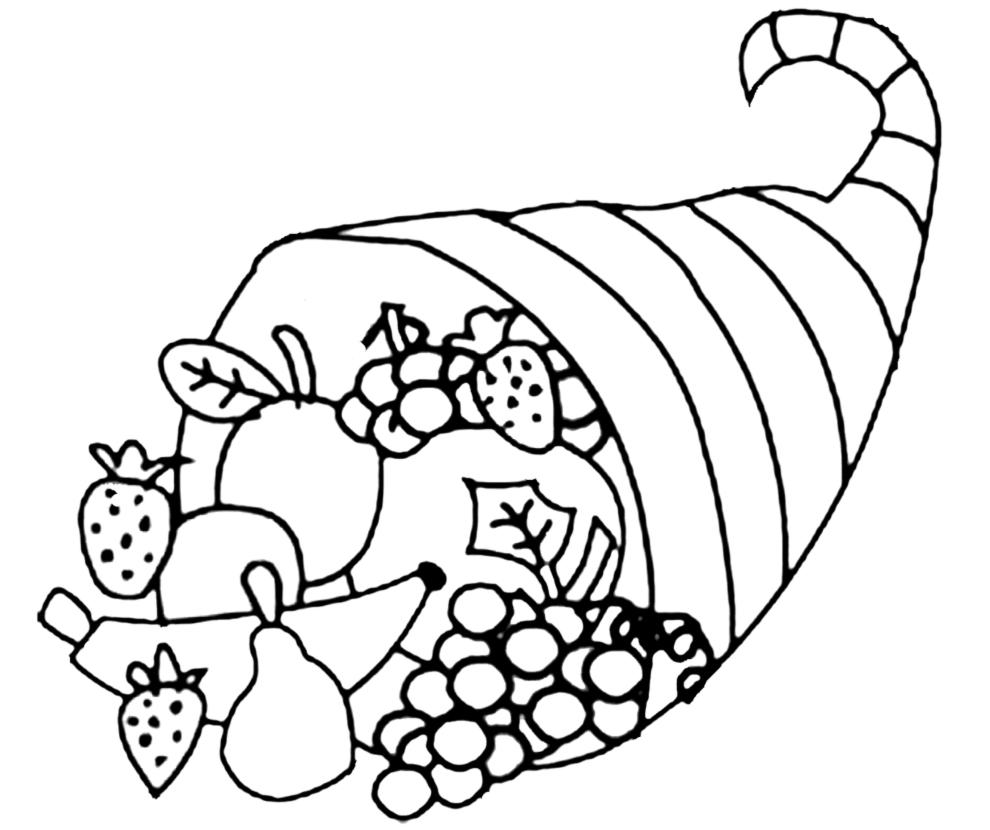 disegno di Cesto di Frutta da colorare