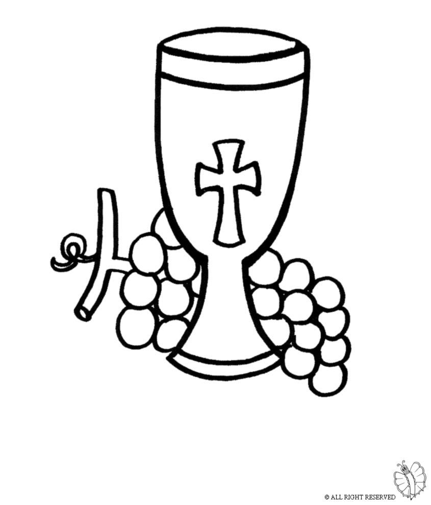 disegno di Calice e Uva da colorare