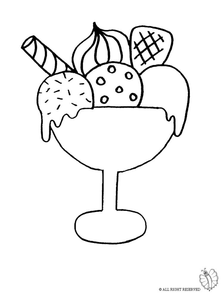 Stampa disegno di coppa gelato da colorare for Disegnare la planimetria online gratuitamente