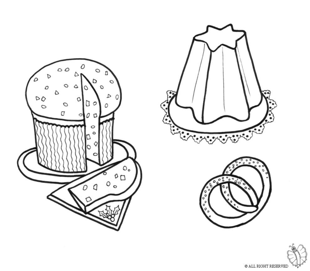 Stampa disegno di dolci natalizi da colorare for Disegno pagliaccio da colorare