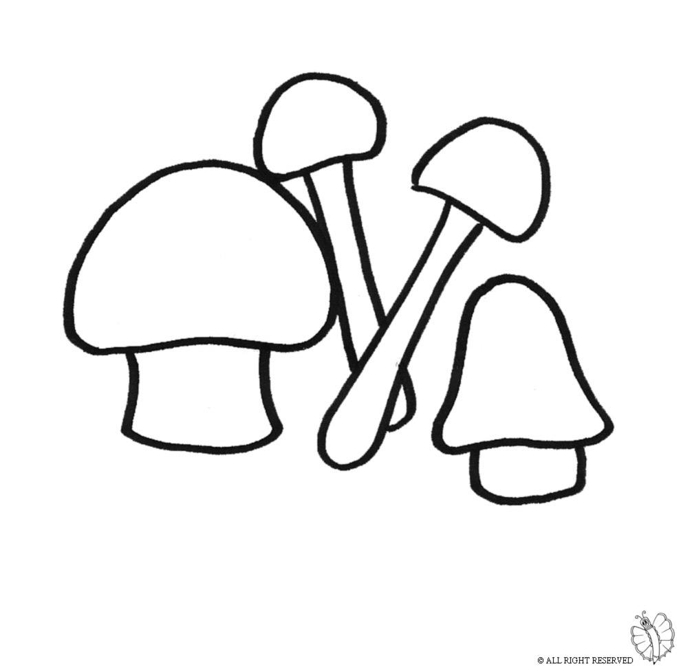 Stampa disegno di funghi da colorare for Disegno pagliaccio da colorare