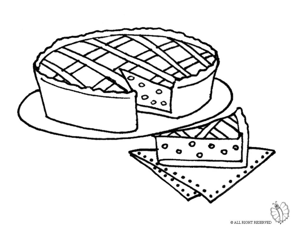 disegno di Pastiera Napoletana da colorare