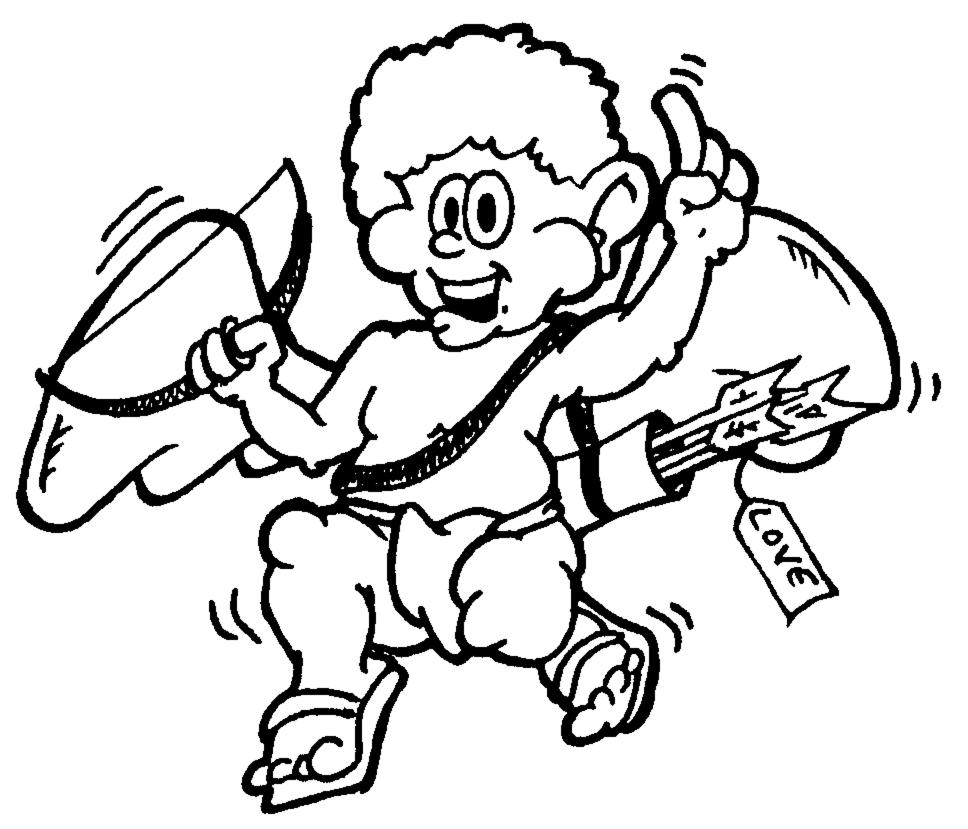disegno di Cupido  da colorare