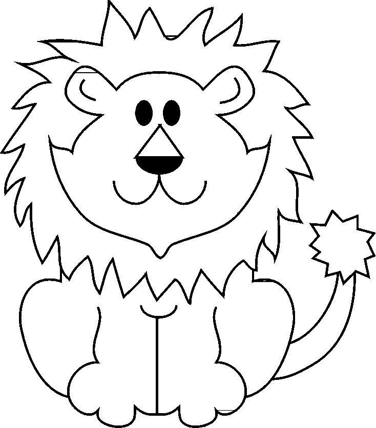 Stampa disegno di il leone da colorare for Cane da disegnare per bambini
