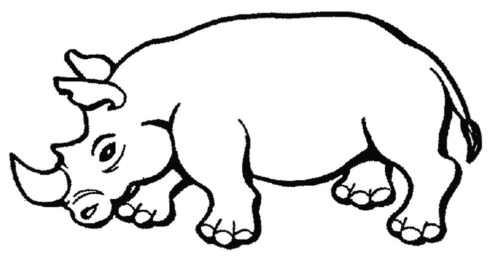 Stampa disegno di rinoceronte da colorare for Disegni da stampare e colorare di cani