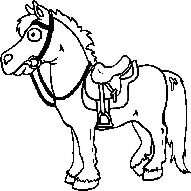Stampa disegno di cavallo da colorare for Immagini di cavalli da colorare