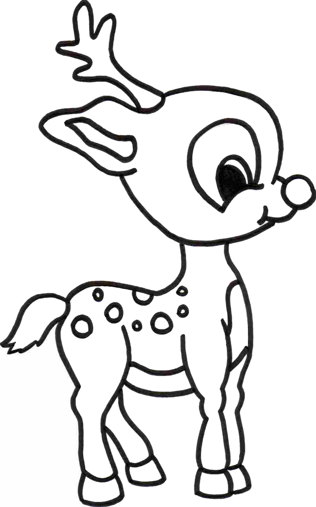 Stampa disegno di cerbiatto da colorare - Immagini di animali da stampare gratuitamente ...