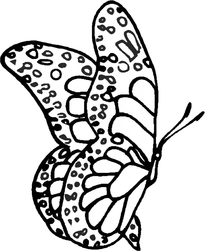 Stampa disegno di farfalla fantasy da colorare for Pesciolini da colorare e stampare