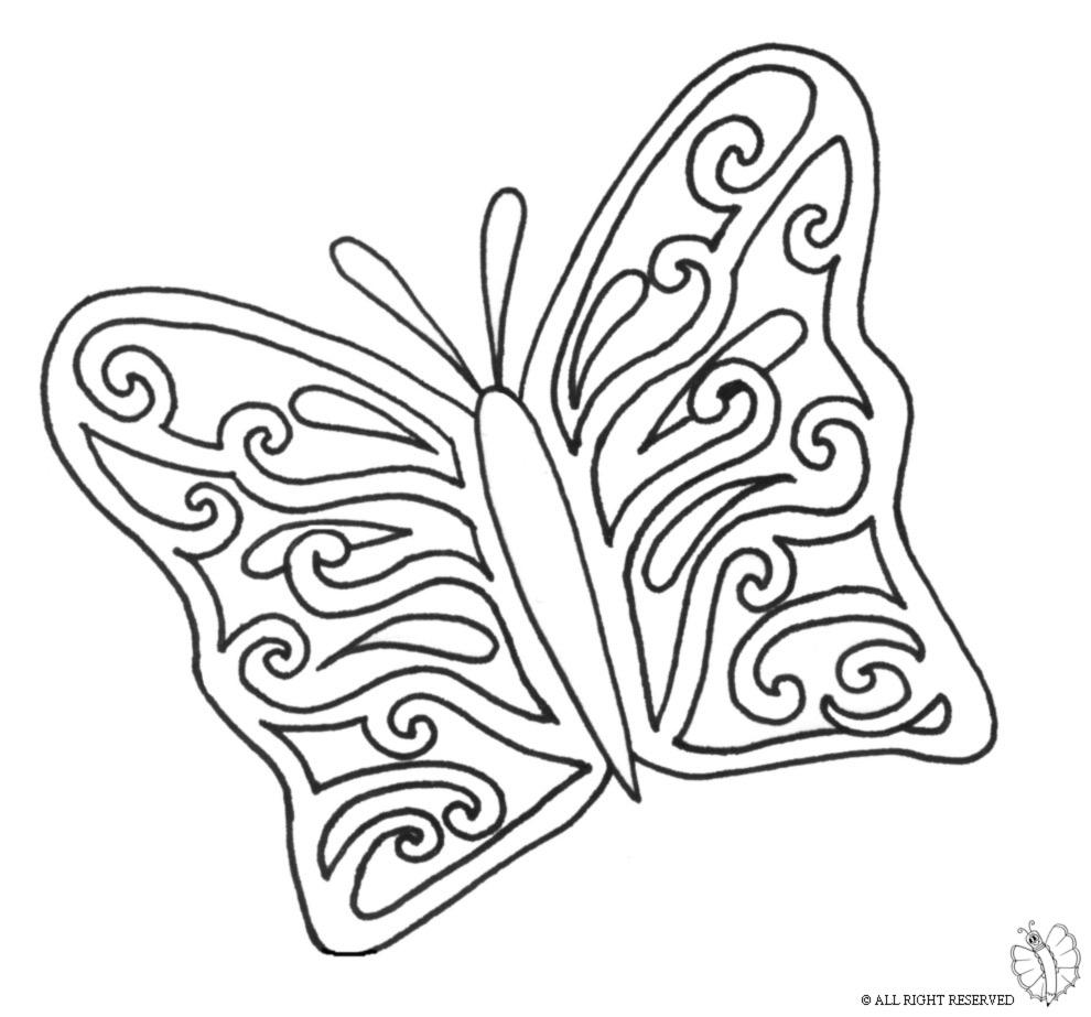 Stampa disegno di la bella farfalla da colorare - Contorni delle immagini da colorare ...