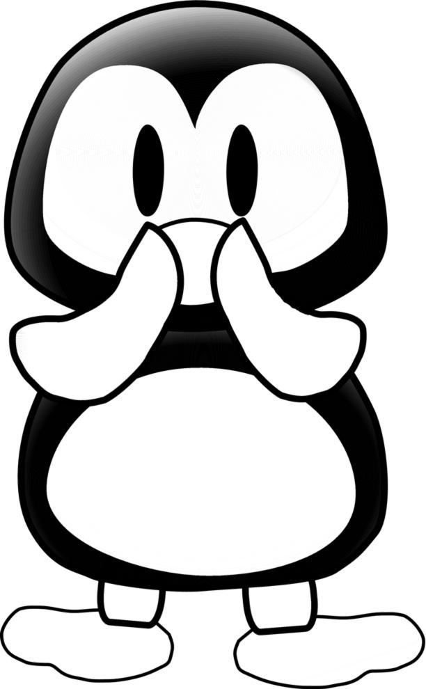 Stampa disegno di il pinguino da colorare for Pinguino da colorare