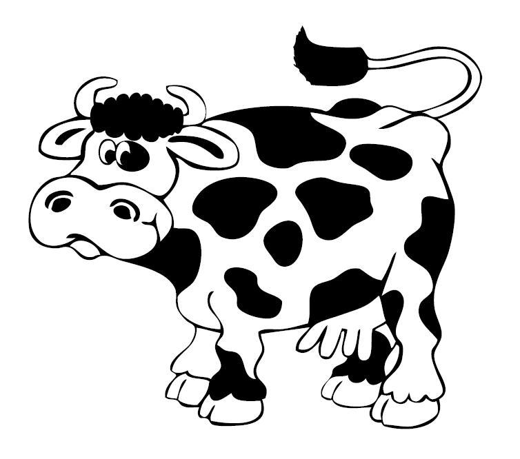 Stampa disegno di mucca con le macchie da colorare - Animali immagini da colorare pagine da colorare ...