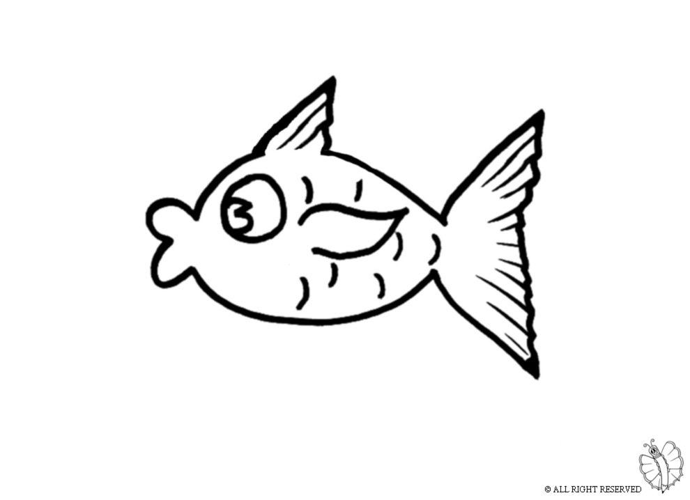 Stampa disegno di pesce tropicale da colorare for Disegni di pesci da colorare