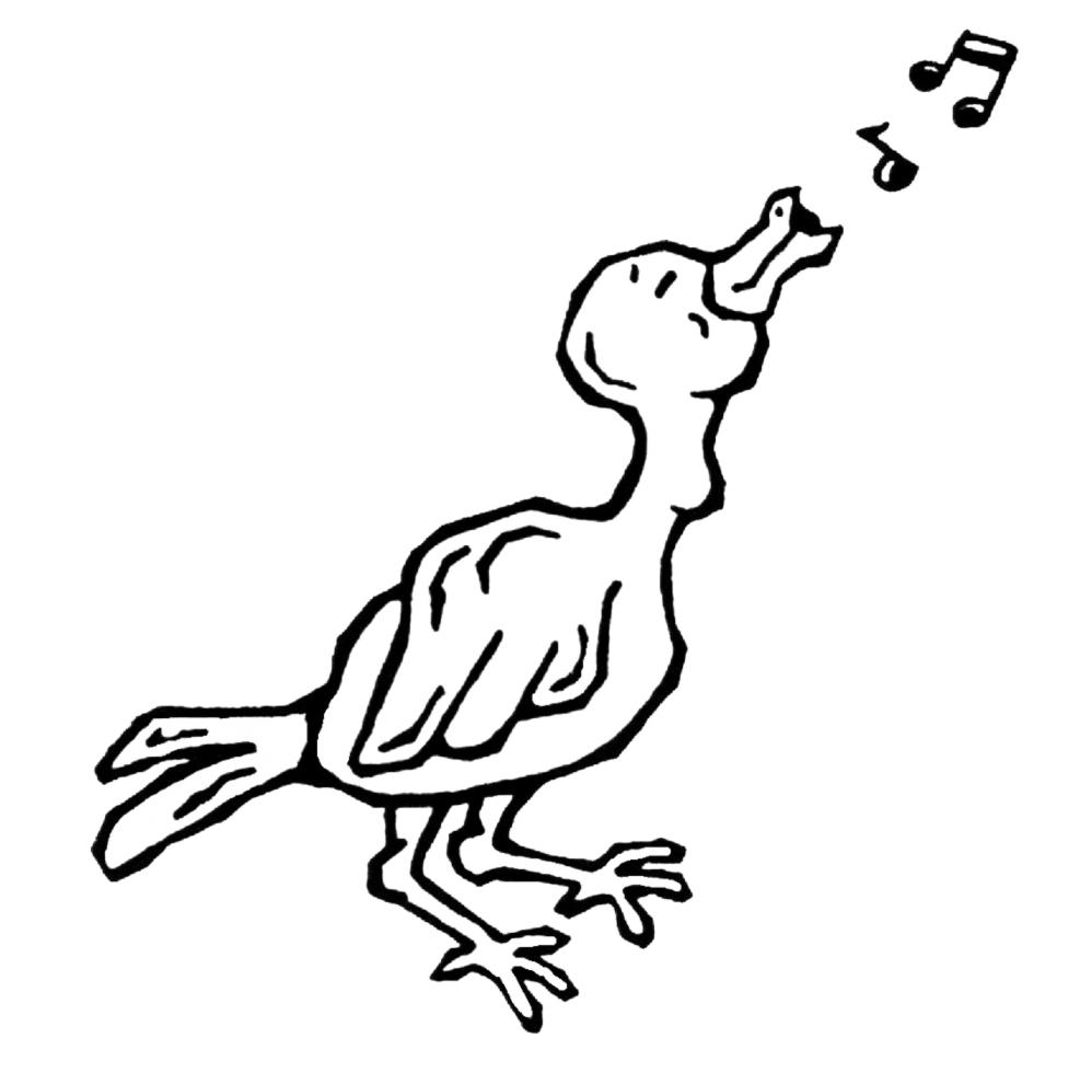 Stampa disegno di usignolo canterino da colorare for Uccellino disegno