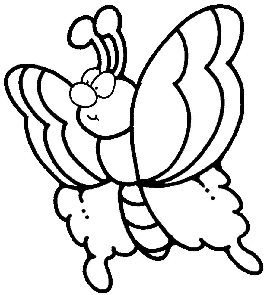 Stampa disegno di farfalla da colorare - Immagini di farfalle a colori ...