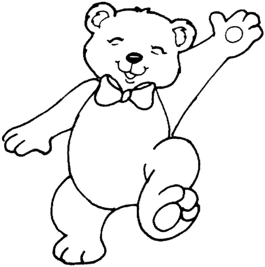 Line Art With Mr E : Stampa disegno di orsetto da colorare