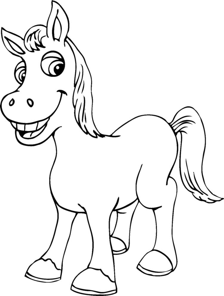 Stampa disegno di piccolo cavallo da colorare for Disegni da colorare dei cavalli