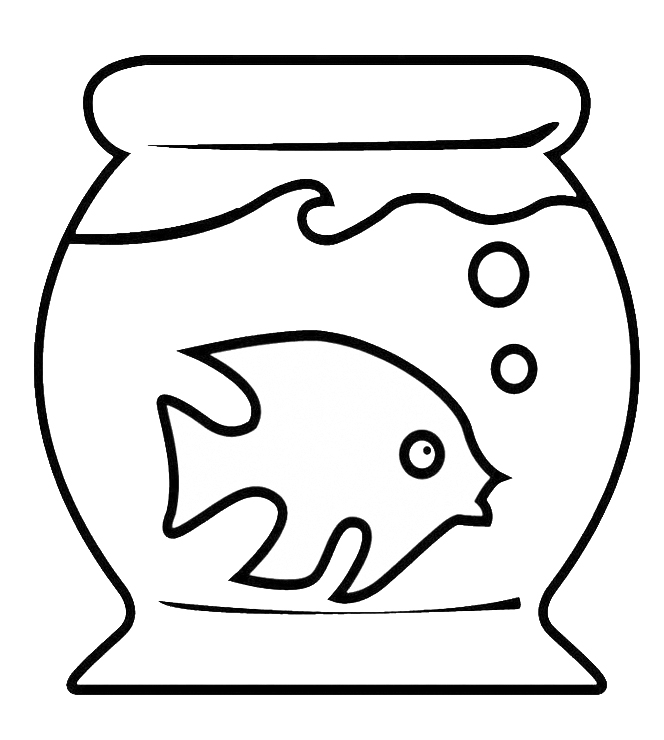 Stampa disegno di acquario con pesciolino da colorare for Immagini squali da stampare