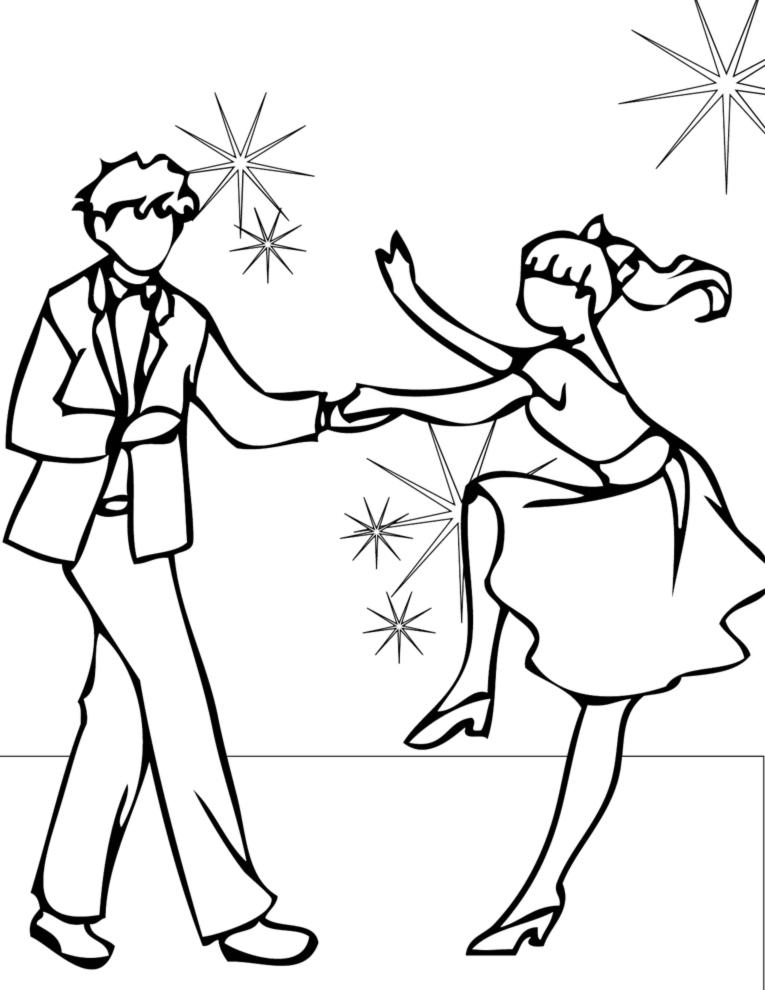 Stampa Disegno Di Ballando Con Le Stelle Da Colorare