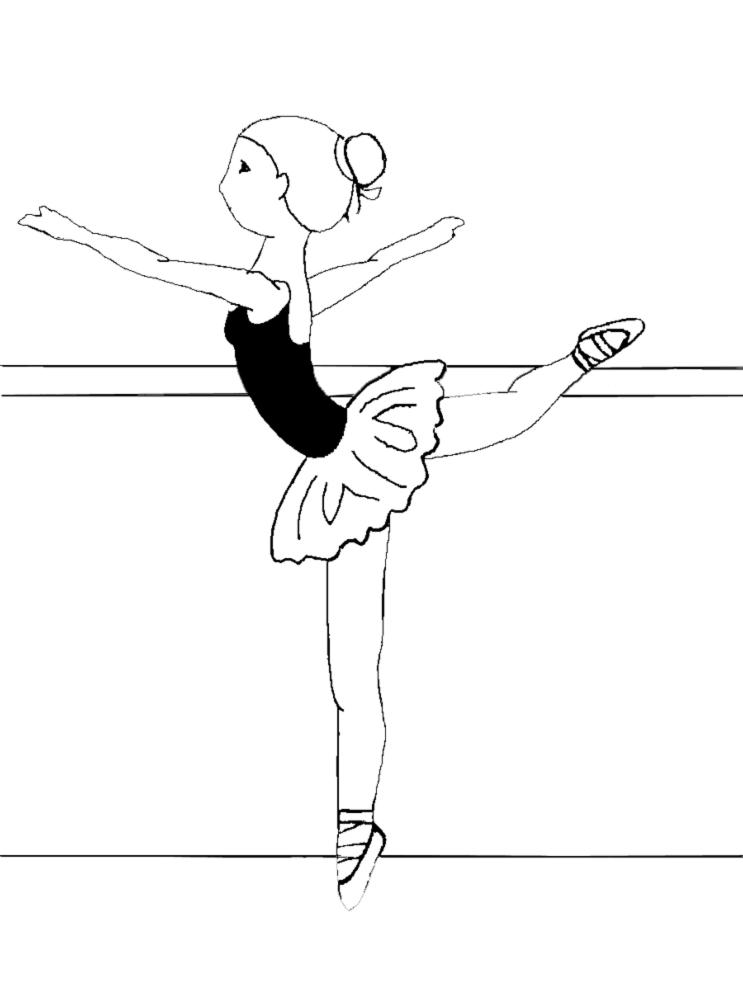 Stampa disegno di lezione di danza classica da colorare for Come disegnare le planimetrie online